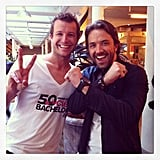TV hosts and 2013 CLEO Bachelors Luke Jacobz and Darren McMullen showed a bit of love for each other's shows.