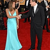 Vanessa Williams got charmed by Leonardo DiCaprio on the red carpet before the 2007 show.