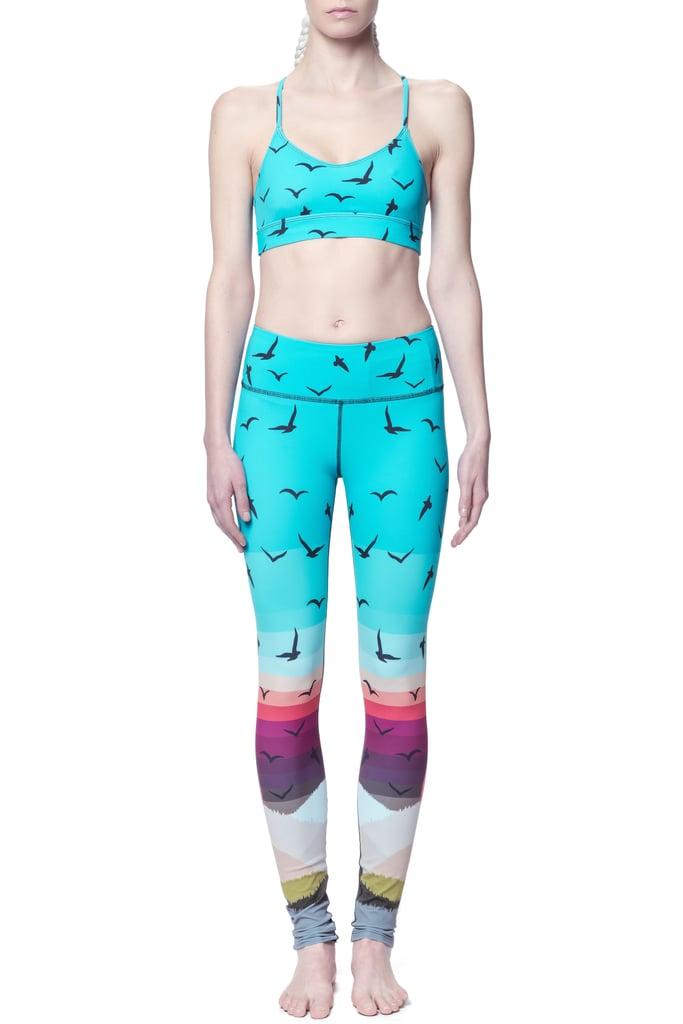 Mara Hoffman Crossback Sports Bra ($128) and Leggings ($158)