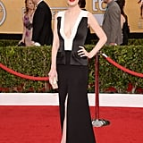 Michelle Dockery at the SAG Awards in J. Mendel