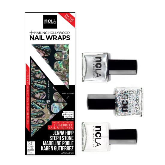 One of our favorite nail wrap brands has collaborated with the manicurists of Nailing Hollywood to bring a handful of nail art sets to life this holiday. We're particularly fond of the NCLA Flash Fête Nail Art Kit ($50), which comes with nail wraps and two coordinated polishes and a top coat, so you can whip up a sparkling custom design.