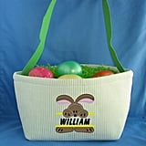 Custom Easter Basket With Name and Bunny