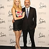 Blake Lively and Christian Louboutin smiled together in NYC.