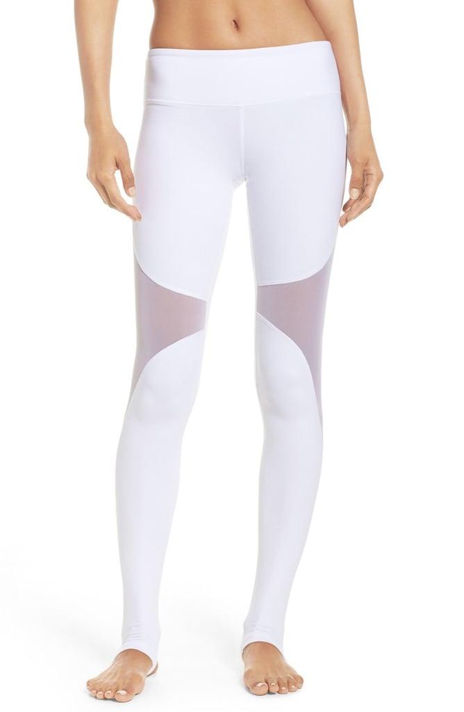 99934b2e40421 Alo 'Coast' Mesh Inset Stirrup Leggings ($94) | Mesh Workout Clothes ...