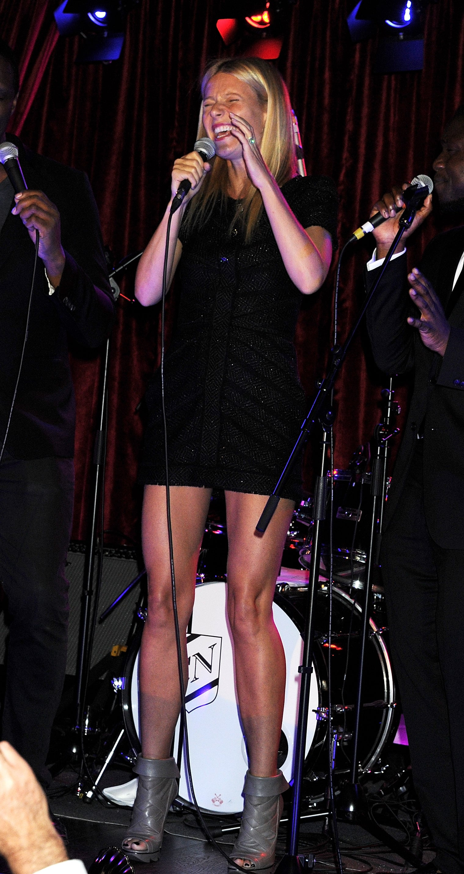 Gwyneth Paltrow sang for Prince Philip in London.