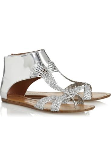 Sigerson Morrison Metallic Sandals ($270)
