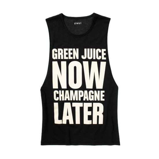 Juicy Couture Green Juice Now Champagne Later Tank Top