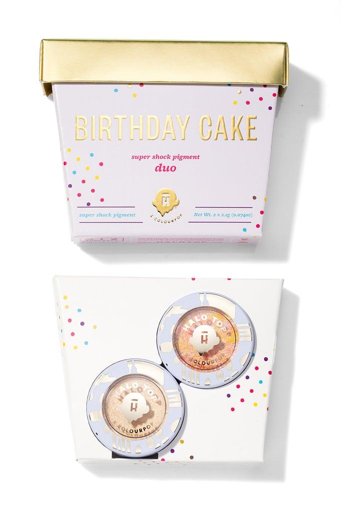 The Halo Top x ColourPop Birthday Cake Super Shock Pigment Duo