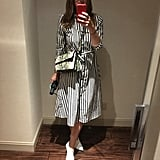 """""""I love how flattering and easy this dress is. I could, in fact, wear it everywhere, since the length and silhouette are nearly all-occasion appropriate — and because I'm stripe-obsessed, the print is just a bonus."""" — HWM"""