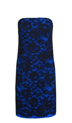 The royal blue on this Tibi Epstein Lace Strapless Dress ($450) feels almost regal, but the silhouette is entirely modern and sexy. Finish it off with a pair of opaque black tights and simplified black platform booties to let the dress take the focus.
