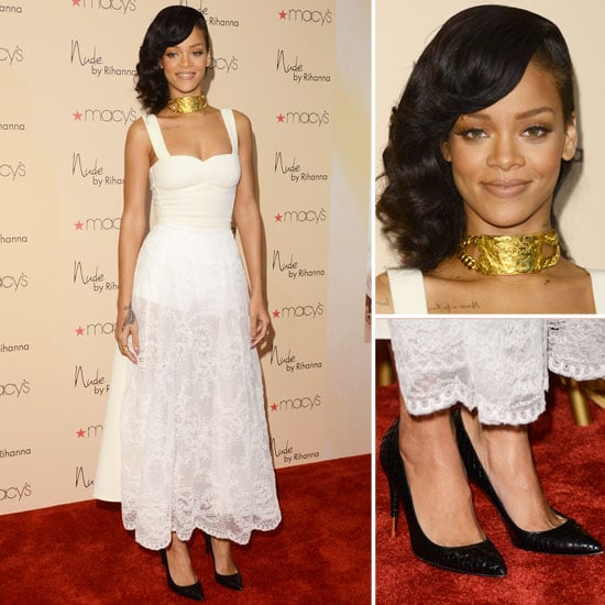 Rihanna Shows Off Her Softer Side in Sheer White Lace