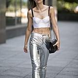 Try futuristic silver