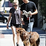 Amanda Seyfried and her pup Finn spent some time with her boyfriend Justin Long.
