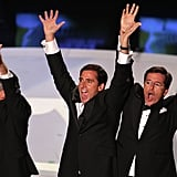 Jon Stewart, Stephen Colbert, and Steve Carell at the 2007 Emmy Awards