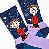 Charlie Brown Christmas Crew Sock