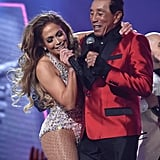 Pictured: Jennifer Lopez and Smokey Robinson