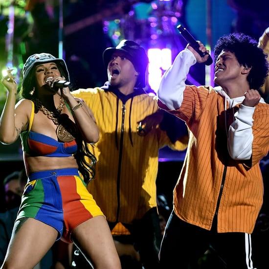 Bruno Mars and Cardi B Grammys 2018 Performance GIFs