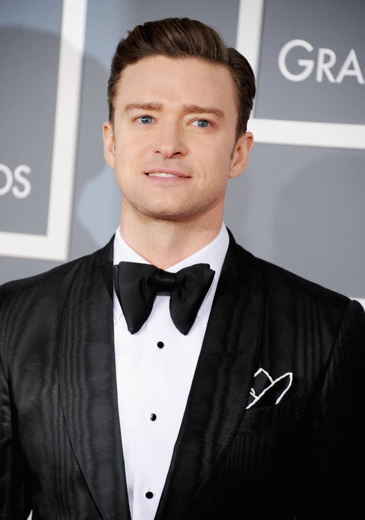 Justin Timberlake arrived at the Grammys.