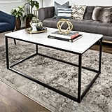 WE Furniture Mixed-Material Coffee Table