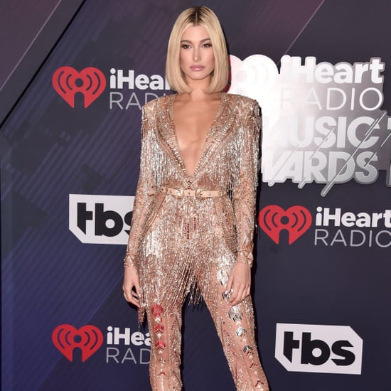 Hailey Baldwin Zuhair Murad Jumpsuit iHeartRadio Awards 2018