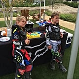 """Best way to celebrate a birthday!!! My boys are looking good in their @foxracing gear…thanks Pete & Sallye!"" Britney wrote about this picture in September 2013."