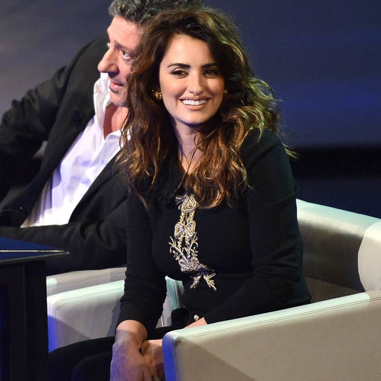 Penelope Cruz on an Italian Talk Show For Twice Born