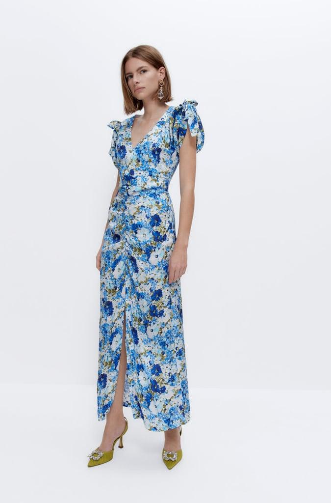 Uterqüe Floral Print Dress