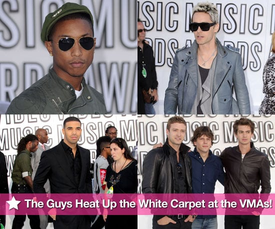 Justin Timberlake, Usher, Justin Bieber, Jared Leto, Drake, and more sexy men on the White Carpet at the 2010 Video Music Awards