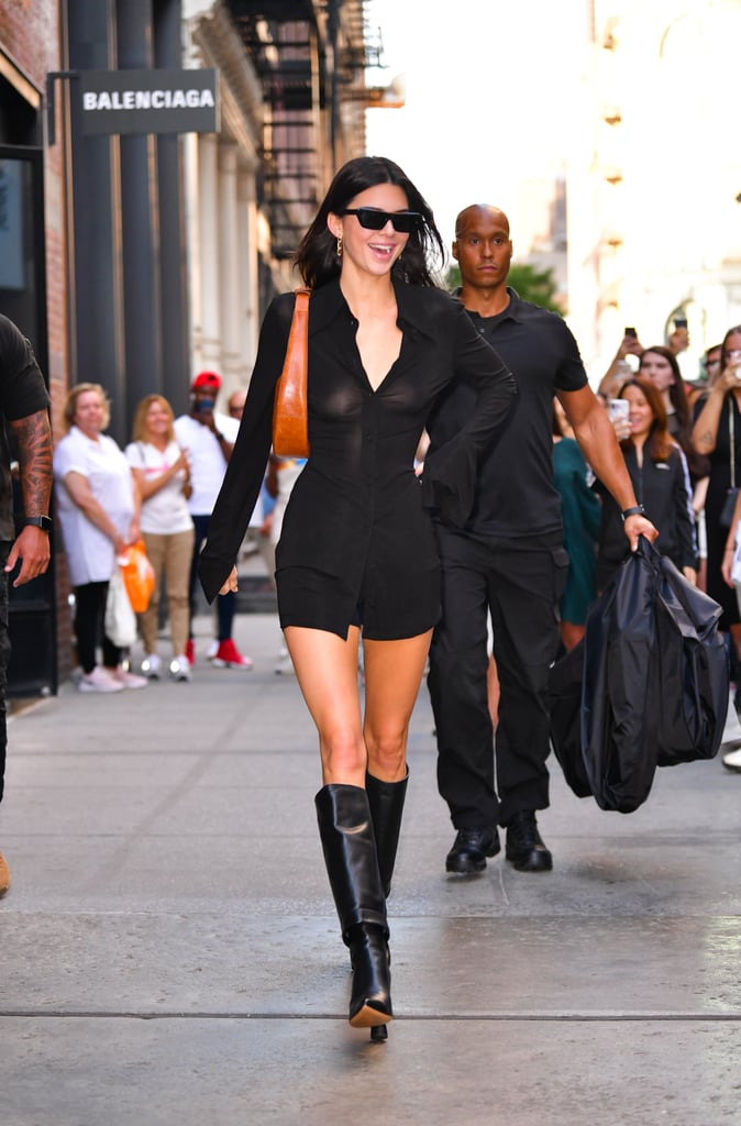 Kendall Jenner Leaving the Balenciaga Store in Soho