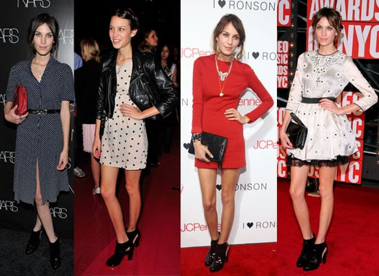 Alexa Chung's Same Shoe Habit Spotted! Pictures of Alexa Chung Wearing Chanel, Prada and Valentino Again and Again