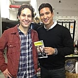 Mario Lopez hung out backstage with Paul Rudd, who is currently starring on Broadway in the show Grace. Source: Twitter user MarioLopezExtra