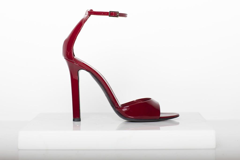 Whisper Patent Sandal in Red Photo courtesy of Tamara Mellon