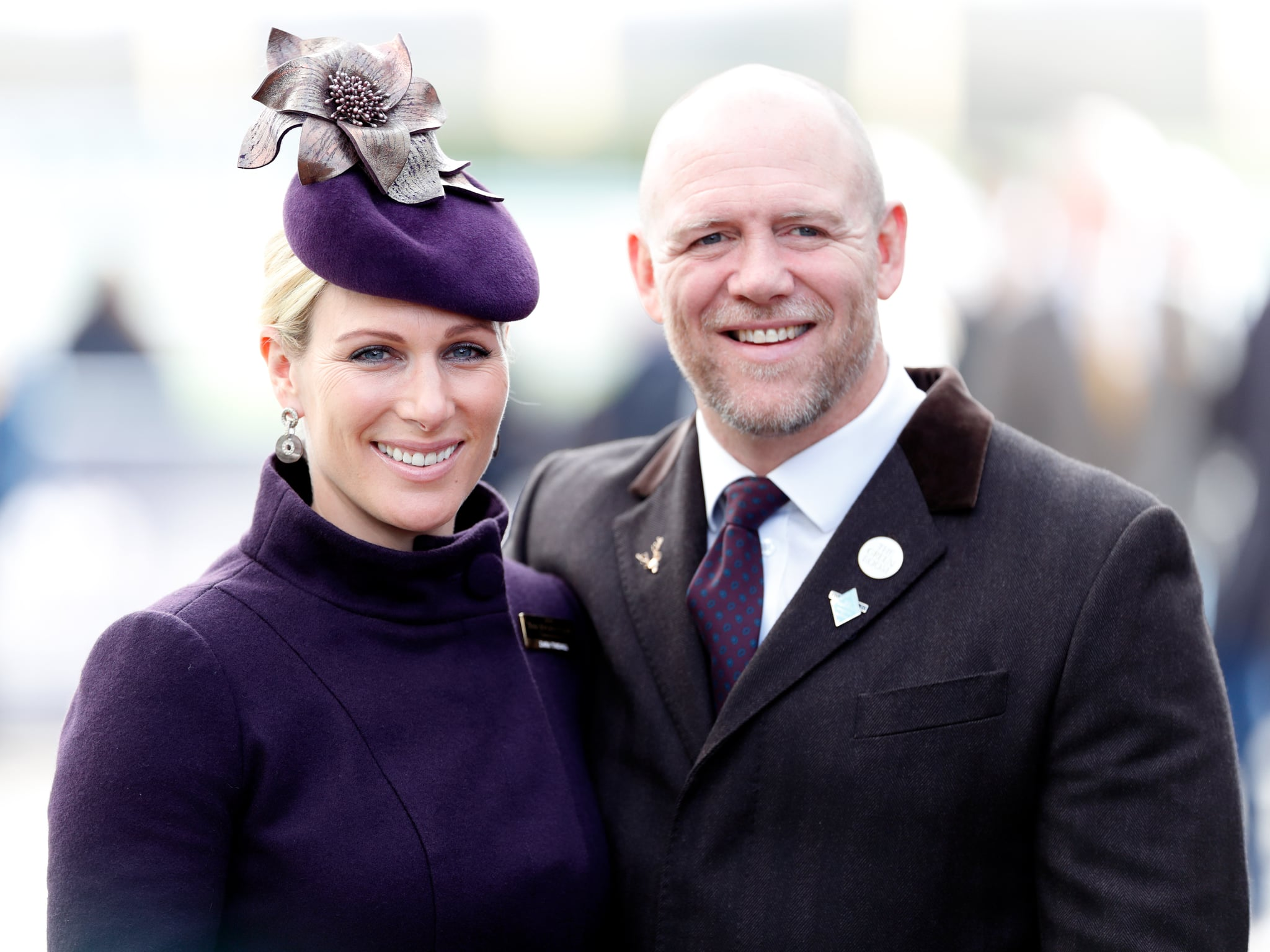 CHELTENHAM, UNITED KINGDOM - MARCH 13: (EMBARGOED FOR PUBLICATION IN UK NEWSPAPERS UNTIL 24 HOURS AFTER CREATE DATE AND TIME) Zara Tindall and Mike Tindall attend day 4 'Gold Cup Day' of the Cheltenham Festival 2020 at Cheltenham Racecourse on March 13, 2020 in Cheltenham, England. (Photo by Max Mumby/Indigo/Getty Images)