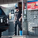 Jake Gyllenhaal stepped out of a gas station in LA.