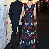 Benedict Cumberbatch and Sophie Hunter held hands on their way into the Netflix bash.