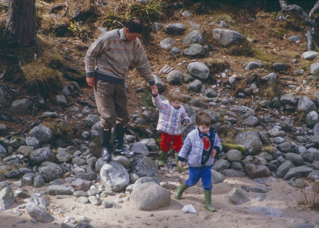 Charles, William, and Harry at the River Dee
