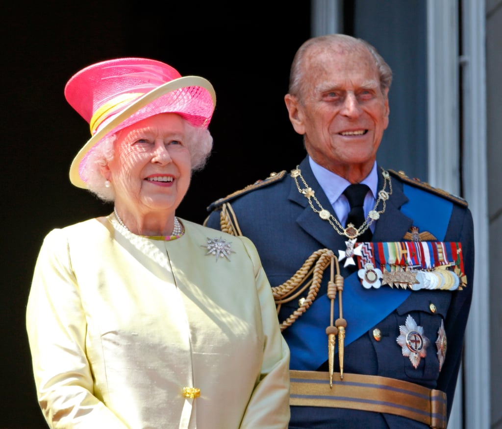 The two watched an aircraft from the balcony of Buckingham Palace to commemorate the 75th Anniversary of The Battle of Britain in July 2015.