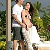 Brian Austin Green posed with pregnant Megan Fox in Hawaii.