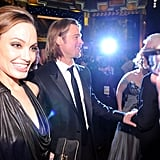 Angelina smiled at the SAG Awards.