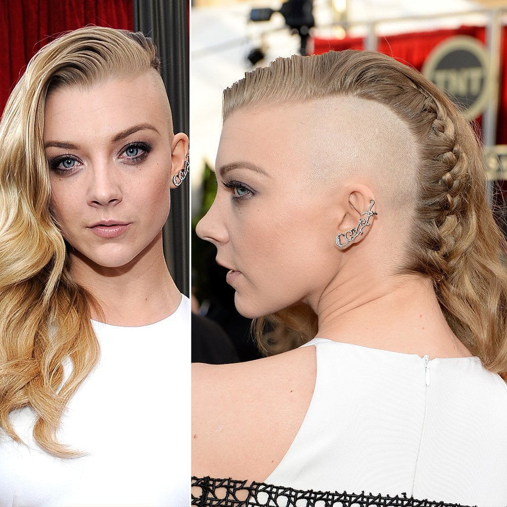 The most . . . memorable look from the SAG Awards red carpet had to be this undercut on Natalie Dormer.  Unfortunately, the Facebook scales weighed against her edgy haircut.