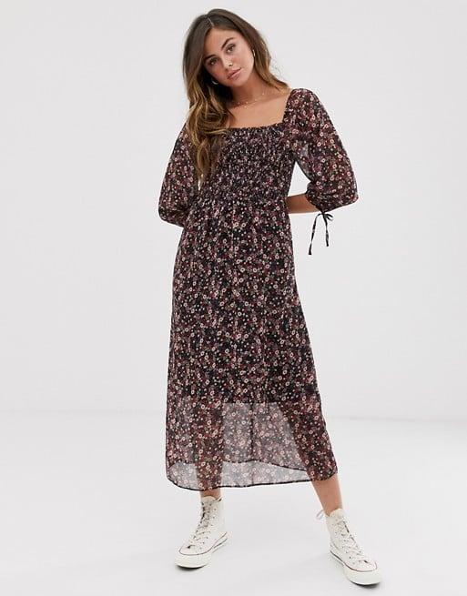 New Look Shirred Midi Dress