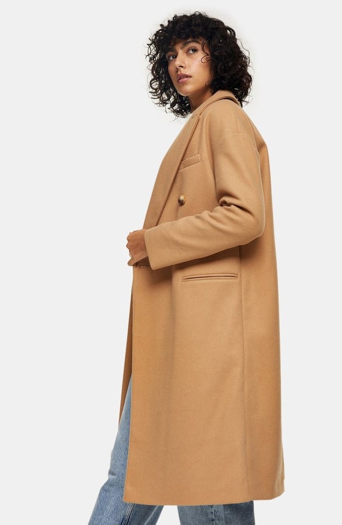 Topshop Brooke Double Breasted Long Coat