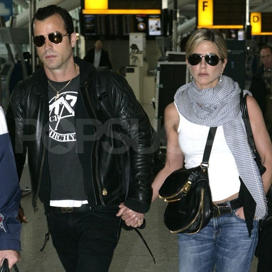 Jennifer Aniston and Justin Theroux Pictures Leaving Heathrow