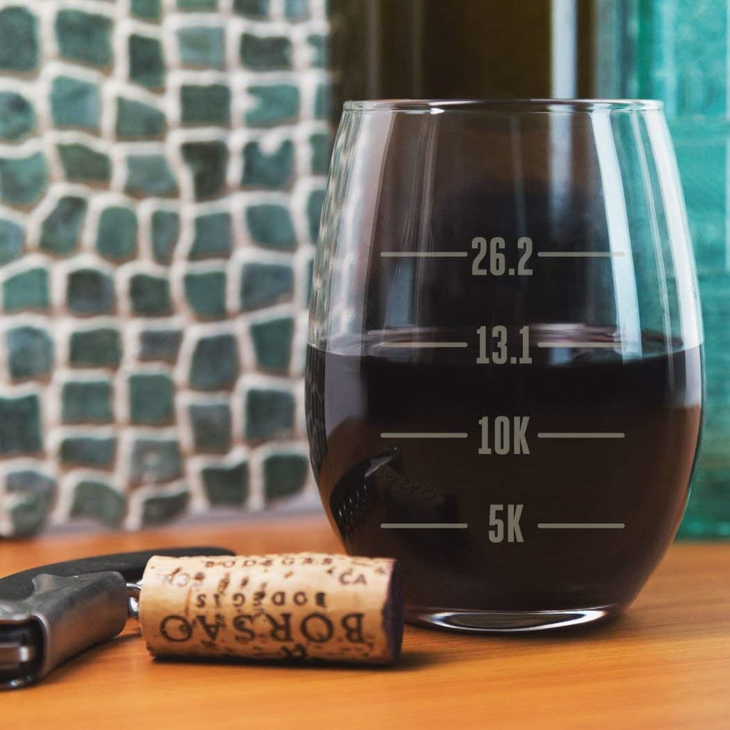 Runner's Measurements Stemless Wine Glass