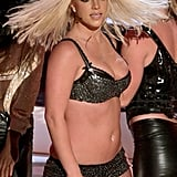 "2007: Britney gave a halfhearted performance of ""Gimme More."""