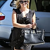 Reese Witherspoon carried a black bag out to lunch in LA.