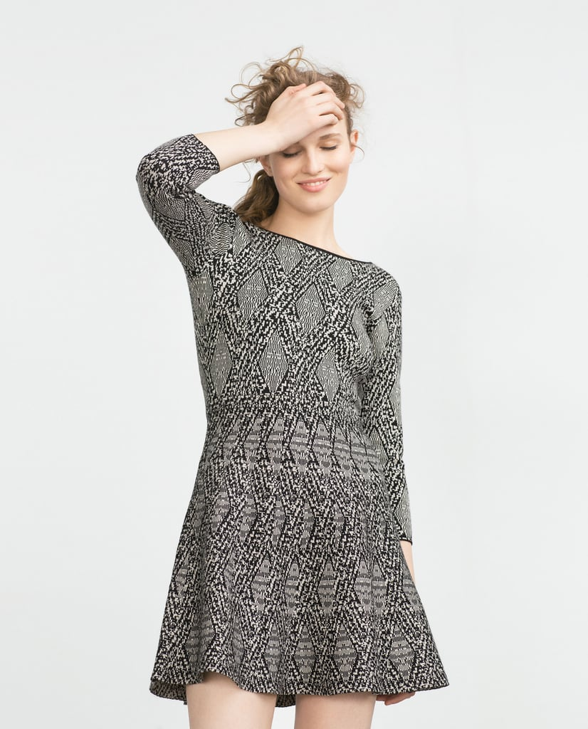 Zara Jacquard Dress ($70)