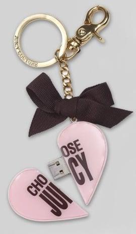 Heart-Shaped USB Keychain