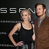 Jennifer Lawrence and Chris Pratt at CinemaCon 2016