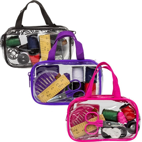 Travel Sewing Kits With Carrying Cases ($1 each)